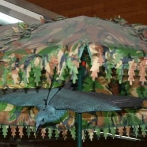 3d Naamiovarjo Maastokuvioitu Halkaisija 170cm