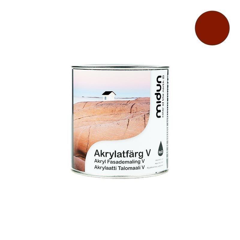Akrylaatti Talomaali V Punainen