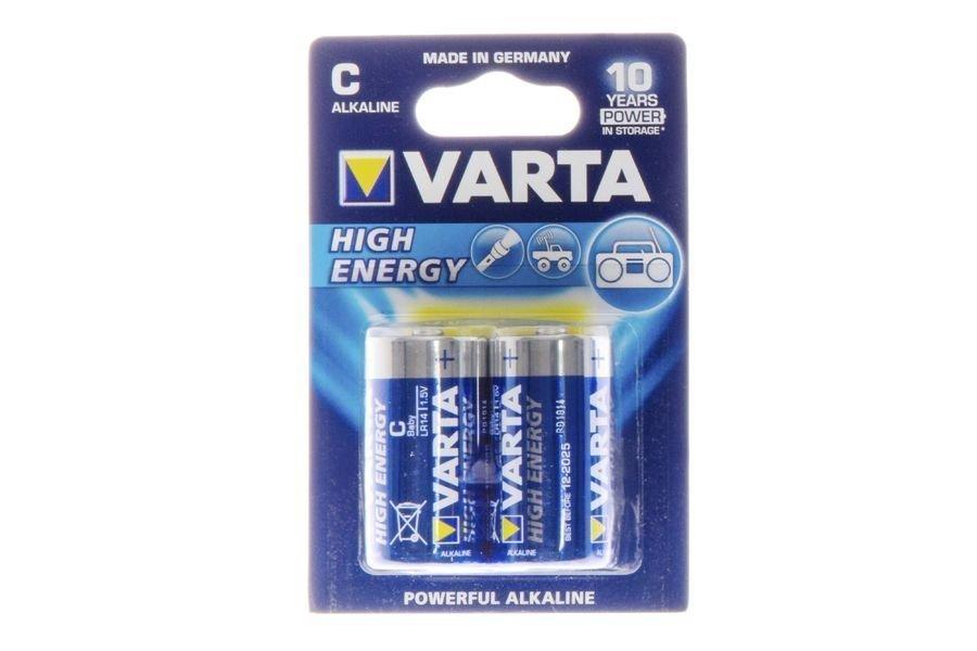 Alkaaliparisto C 2kpl Varta High Energy