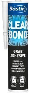 Asennusliima Clear Bond 290ml Bostik