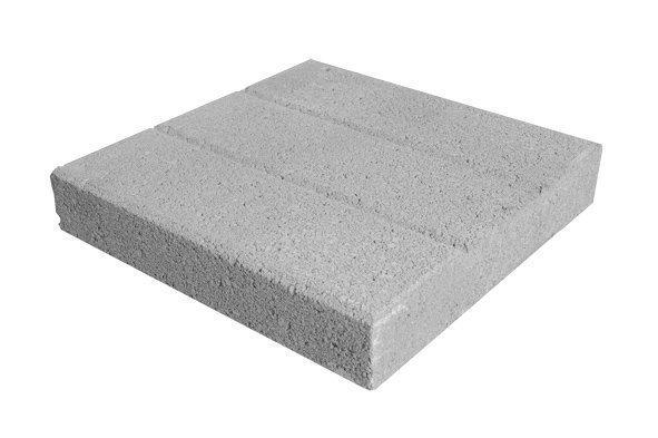 Betonilaatta 300x300x55 mm harmaa 2-puoleinen