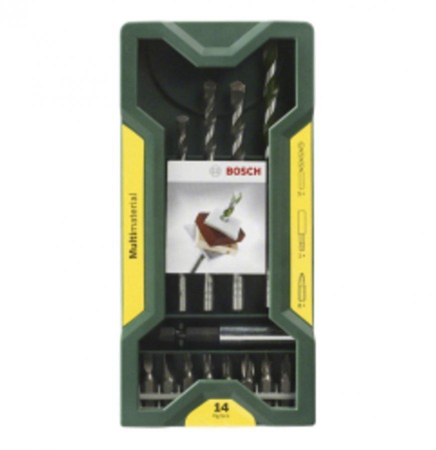 Bosch Mini-X-Line Monikäyttöporanteräsarja 14 Osainen