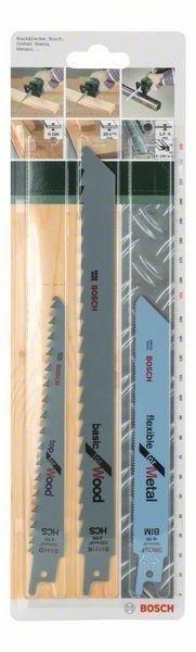 Bosch Puukkosahanteräsarja Puu / Metalli 3-Osainen