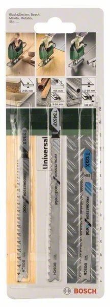 Bosch T Pistosahanteräsarja Puu / Metalli 3-Osainen