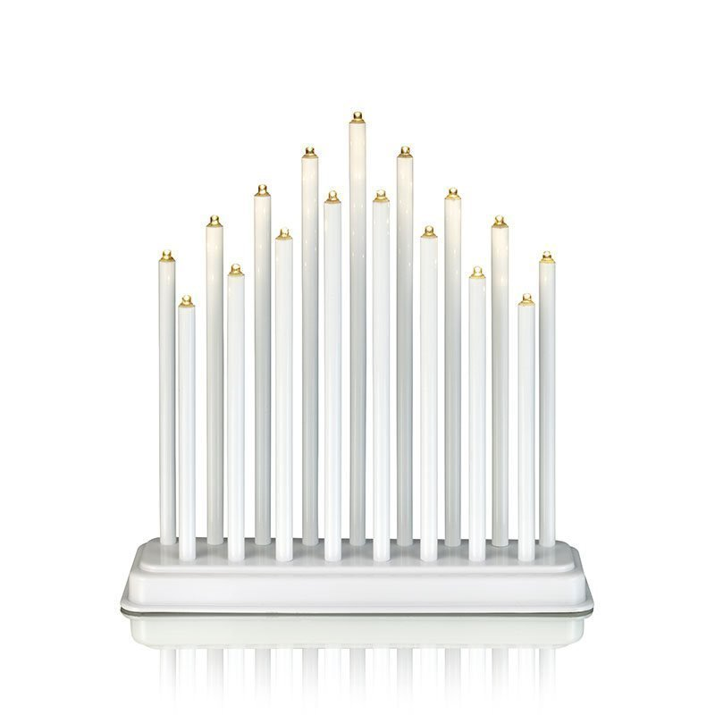 CHESTER Candle light 17L LED Valkoinen