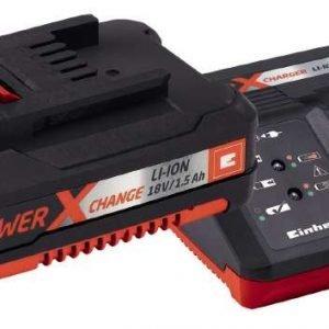 Einhell Power X-Change Aloituspakkaus 18 V 30 Min. Laturi & 18 V 1