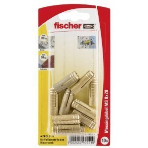 Fischer Messinkiankkuri 8 X 28 Mm K 10 Kpl / Pkt
