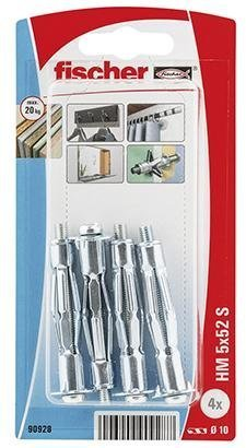 Fischer Ohutlevykiinnike Metalli 5 X 52 Mm 10 Kpl / Pkt