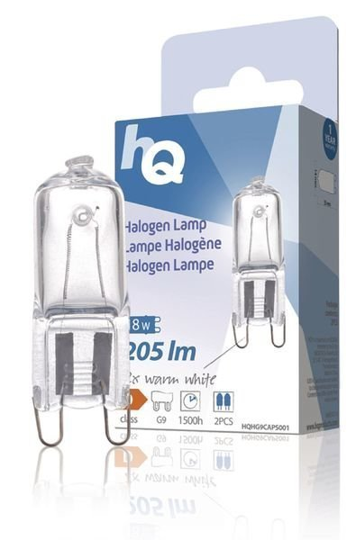 Halogeenilamppu Kapseli G9 18 W 205 Lm 2800k Hq