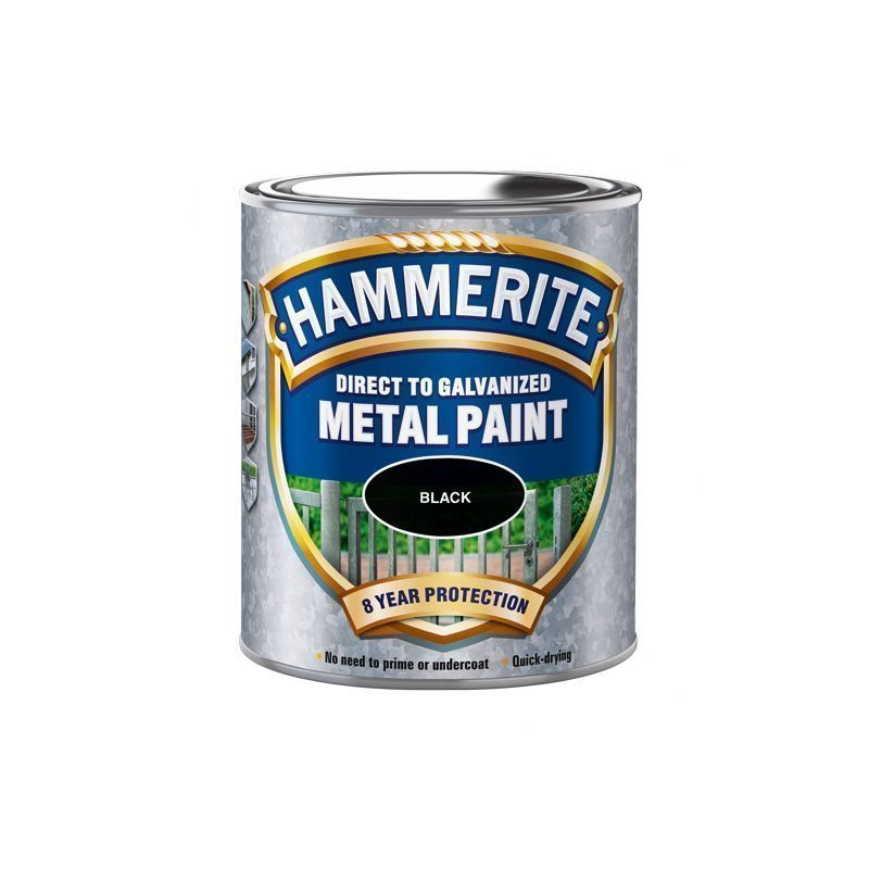 Hammerite Direct to Galvanised Musta