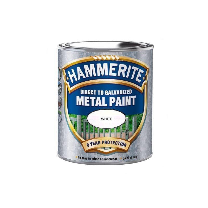 Hammerite Direct to Galvanised Valkoinen