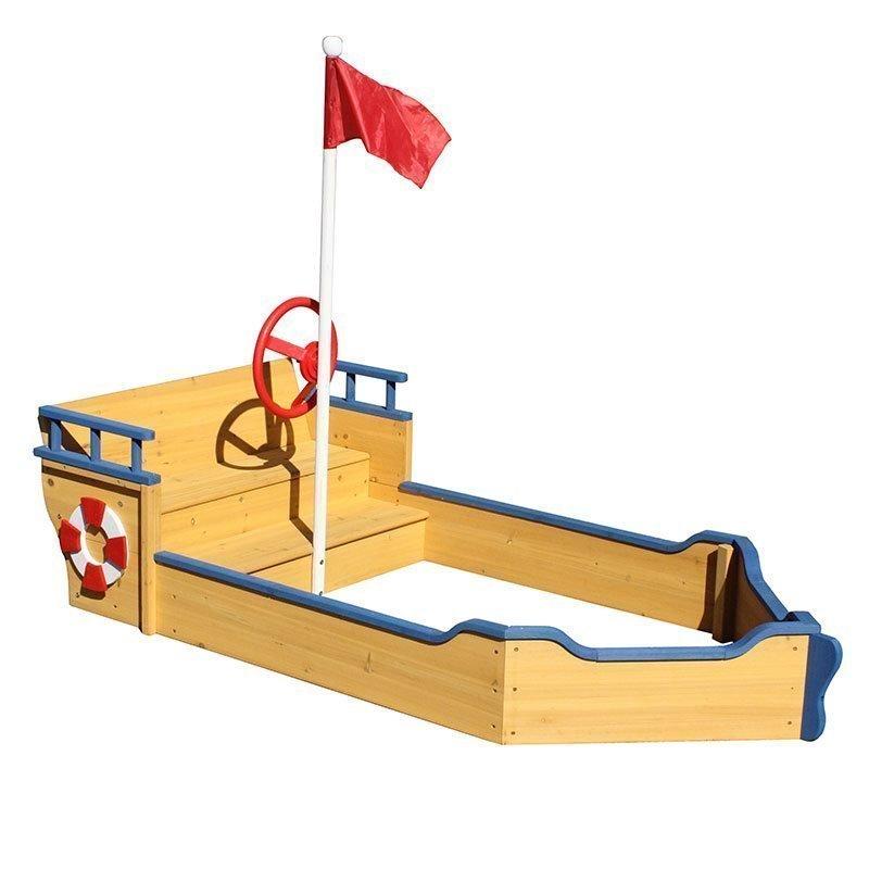Hiekkalaatikko JABO vene Keltainen