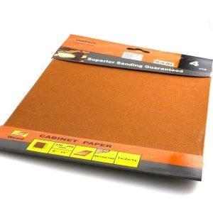 Hiomapaperiarkit P80 2xp120 P150 230x280mm Orientcraft
