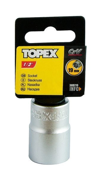 """Hylsy 1/2"""" 19mm Topex"""