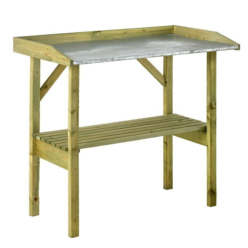 Istutuspöytä JABO sinkittyä peltiä Vihreä