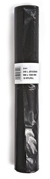 Jätesäkki 240l Musta 10pss/Rll