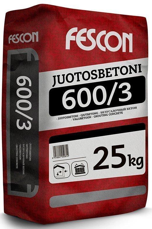 Juotosbetoni Fescon JB 600/3 25 kg säkki