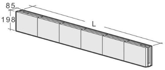 Kahi Väliseinäpalkki VHR6 1800x85x198 mm