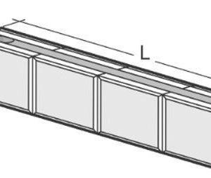 Kahi Viistetty Runkopalkki RRH4VII 1200 mm
