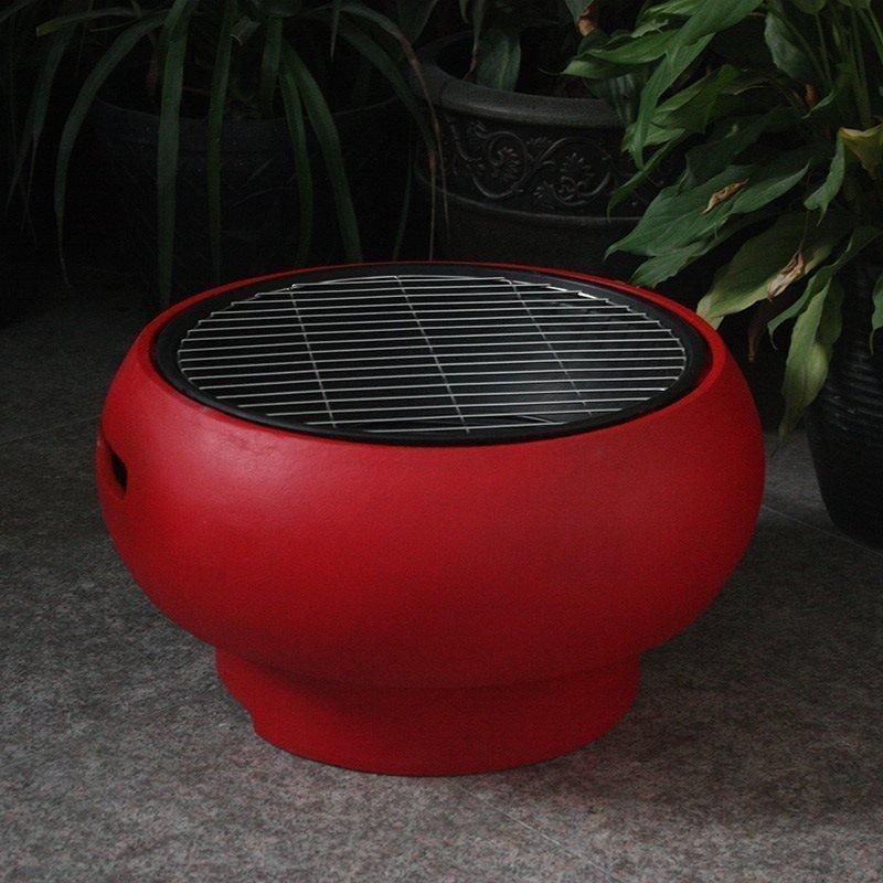 Kannettava grilli BBQ Grill Tub Punainen
