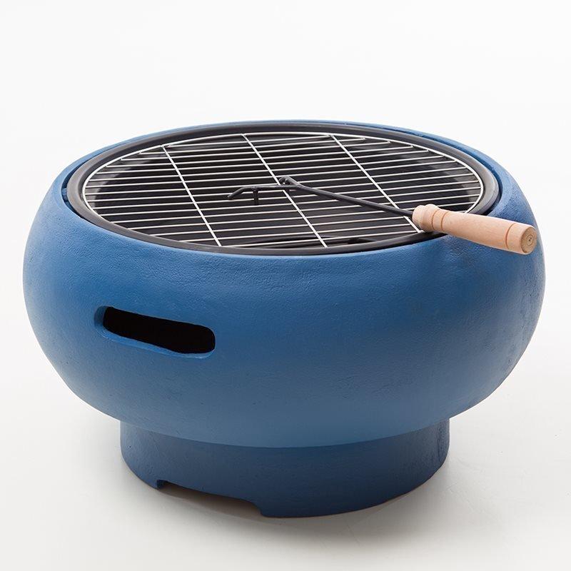Kannettava grilli BBQ Grill Tub Sininen