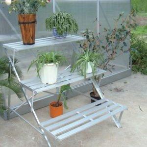 Kasvihuoneen Porraspöytä Alumiini Villagreen C