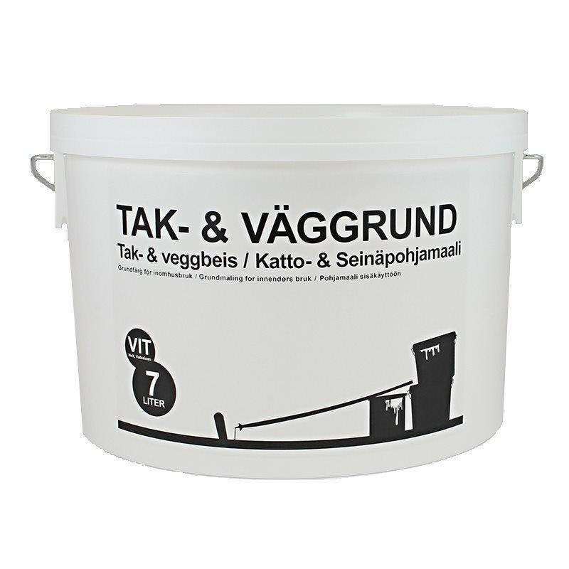 Katto-ja Seinäpohjamaali Valkosävyinen 7L Valkoinen