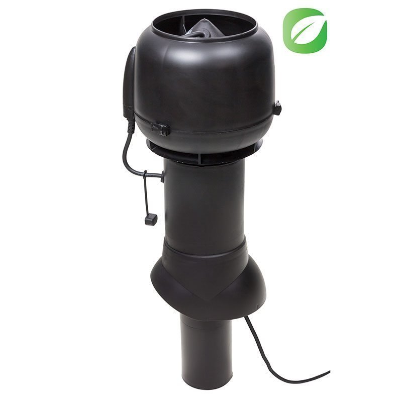 Kattopuhallin Eco 110mm Vilpe Musta