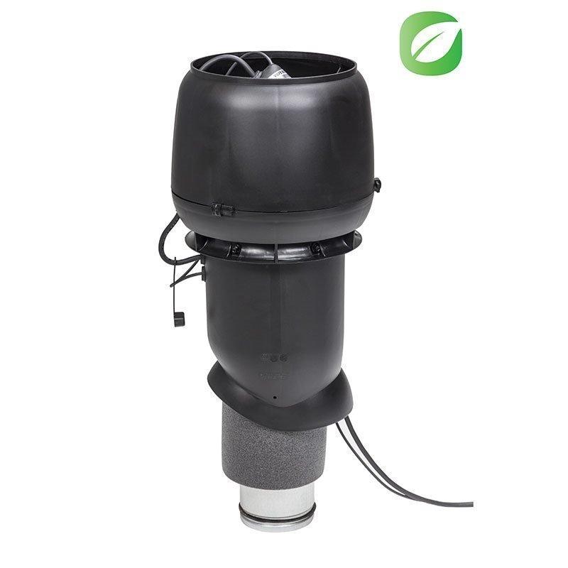 Kattopuhallin Eco 125mm Vilpe Musta