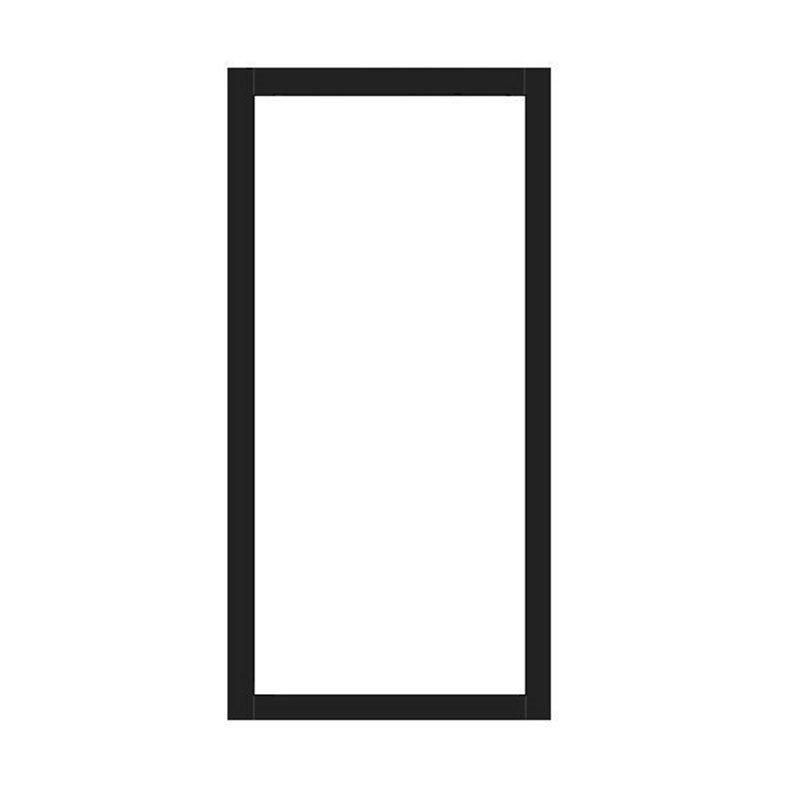 Kiinteä ovi Isomax Musta