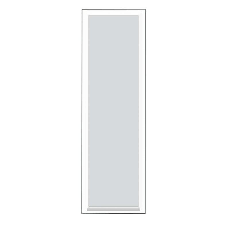 Kiinteä ovi Natur V alumiini Valkoinen