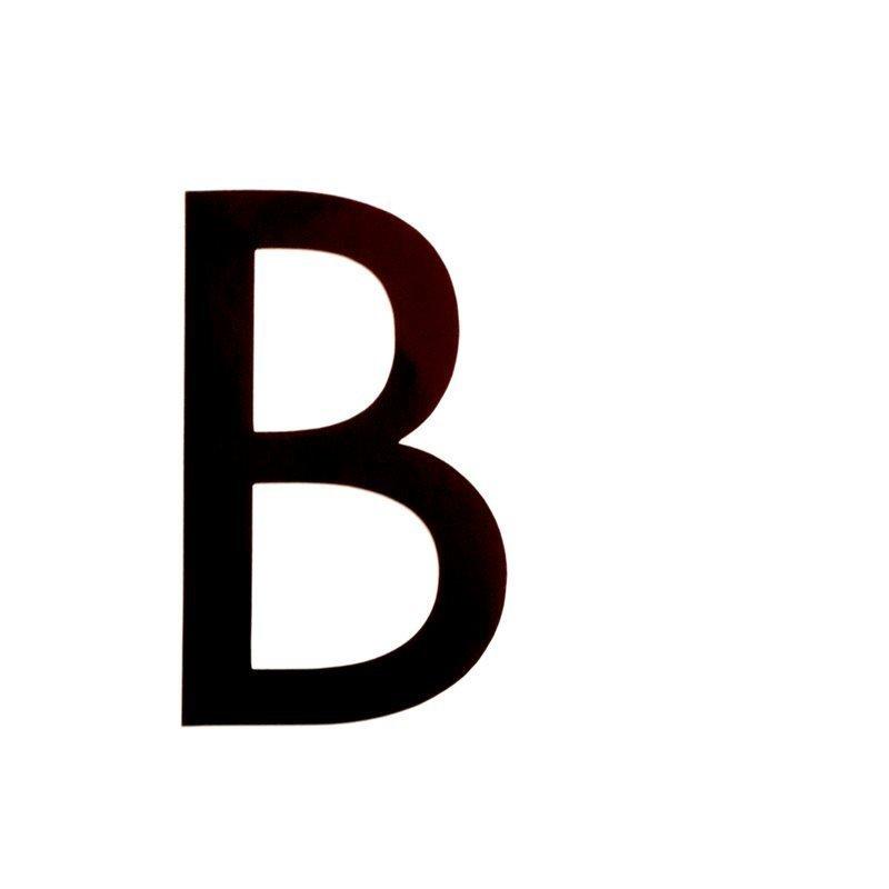 Kirjain B 400 50mm Habo Musta