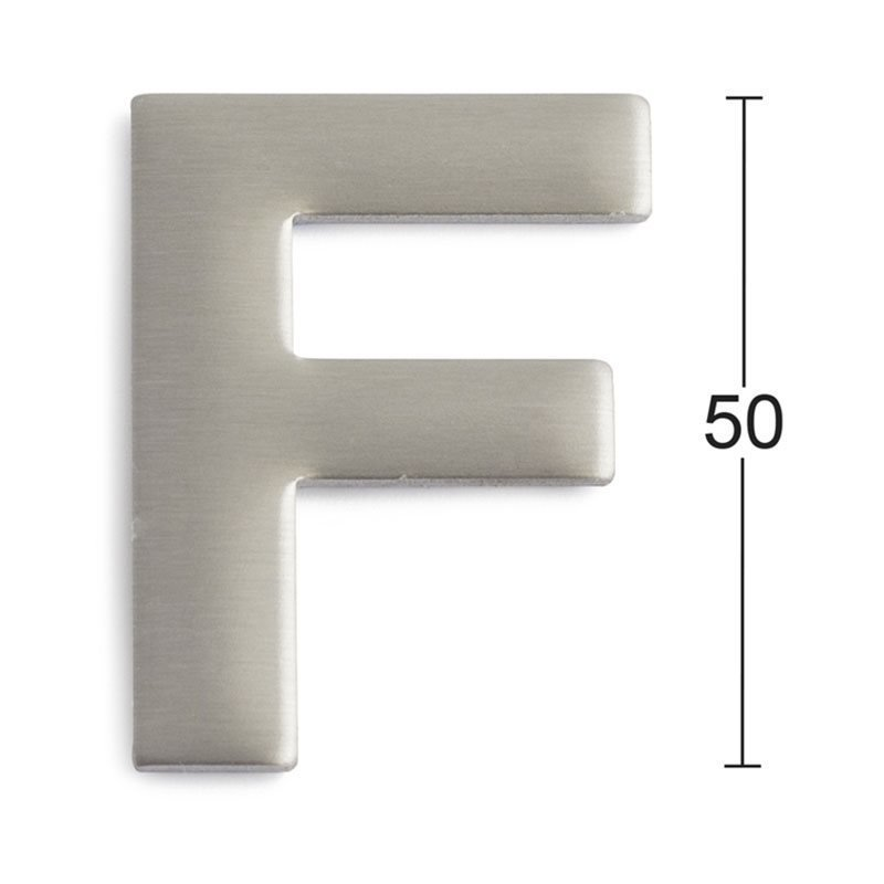 Kirjain Habo GRF50 Ruostumaton teräs
