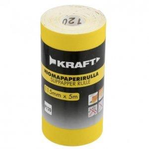 Kraft Hiomapaperirulla 115mm 5m G120