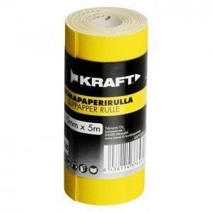 Kraft Hiomapaperirulla 115mm 5m G180