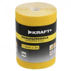 Kraft Hiomapaperirulla 115mm 5m G40