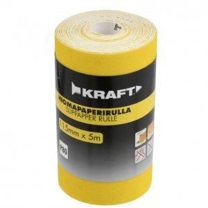 Kraft Hiomapaperirulla 115mm 5m G80