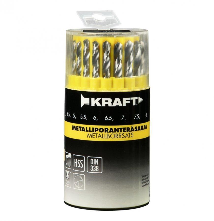 Kraft Metalliporanteräsarja 19-Osainen