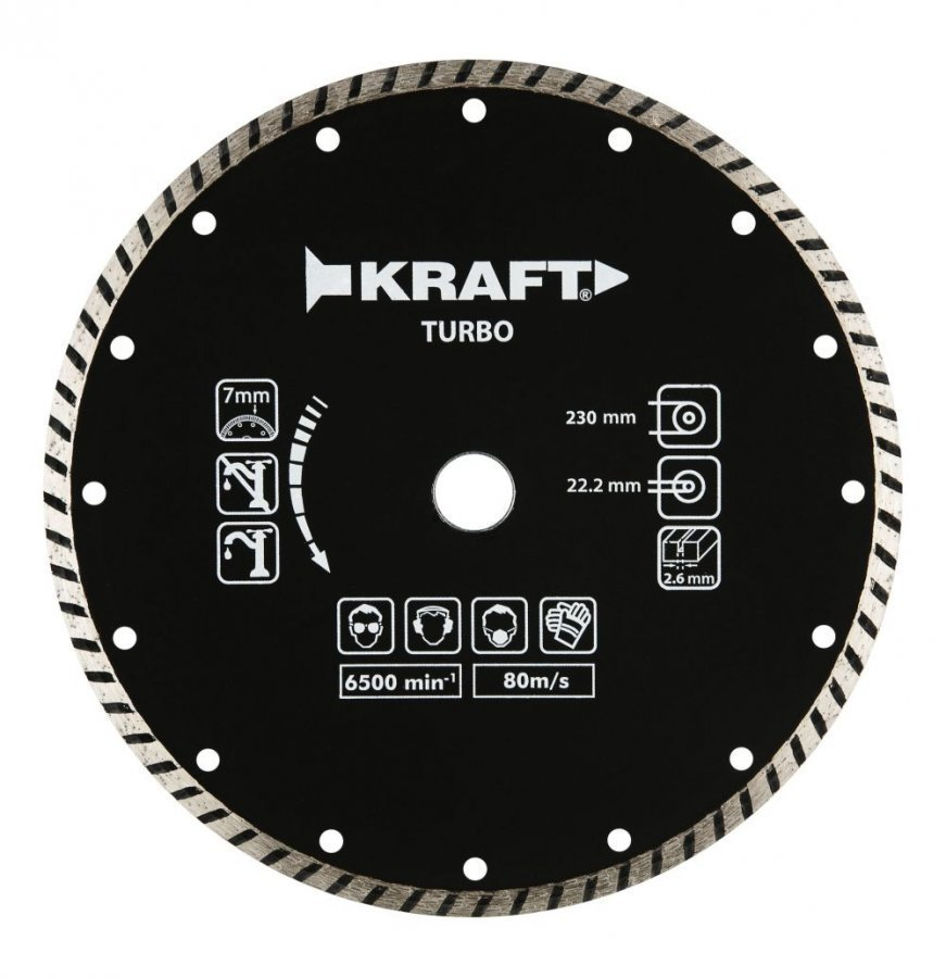 Kraft Timanttilaikka 230mm Turbo