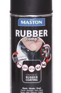 Kumimaalispray Matta Musta 400ml Maston Rubbercomp