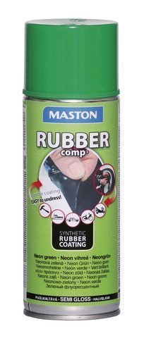 Kumimaalispray Neon Vihreä 400ml Maston Rubbercomp
