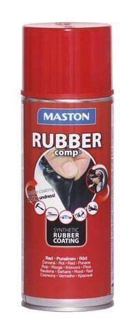Kumimaalispray Punainen 400ml Maston Rubbercomp