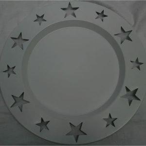 Kynttilänalunen 26cm Valkoinen