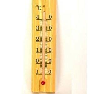 Lämpömittari Sisä Vaalea Puu 150x30mm