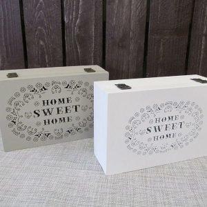 Laatikko 24x16x8cm Puinen Home Sweet Home