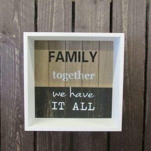 Laatikkotaulu 24x24x8cm Family Lily's Home