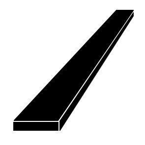 Lattatanko teräs ruostumaton 5x50 mm 1.4301 leikattu pituus 3 m
