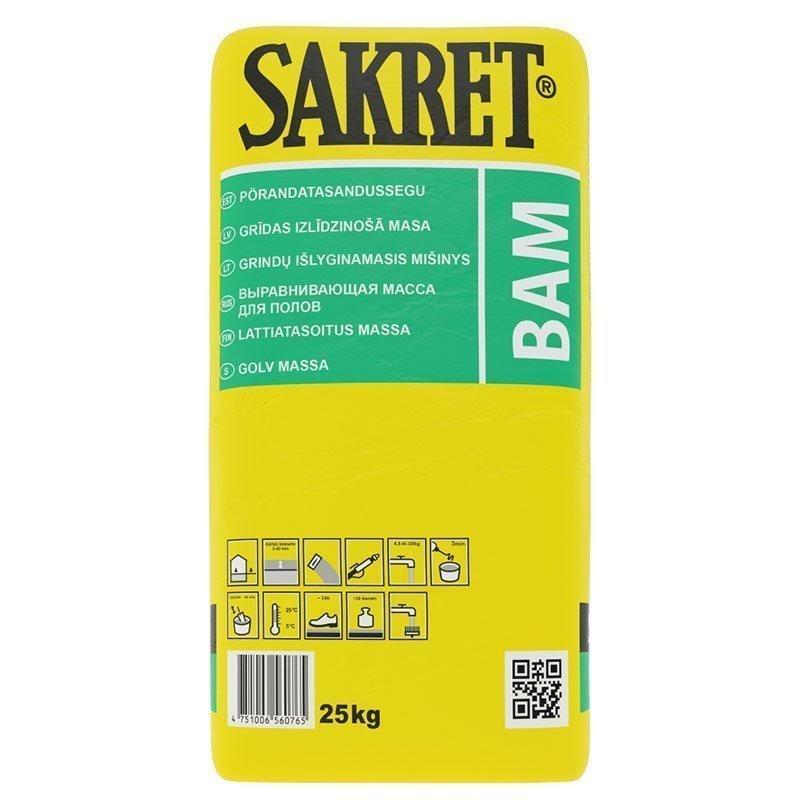Lattiatasoitusmassa BAM Sakret 25kg