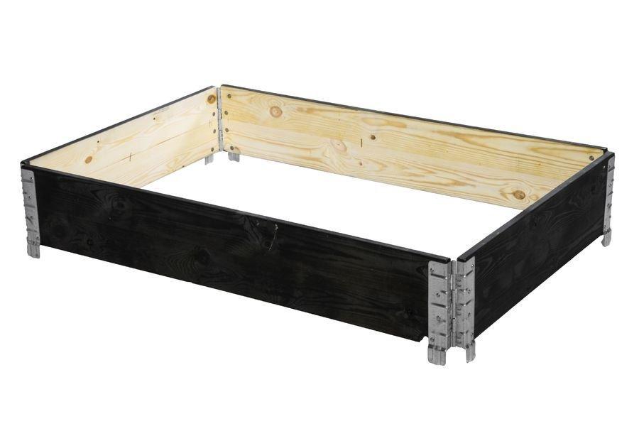 Lavakaulus / Istutuslaatikko 120*80cm Puinen Musta