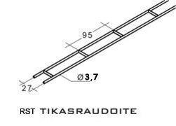 Leca Tikasrauta BI 37R rst 10 kpl